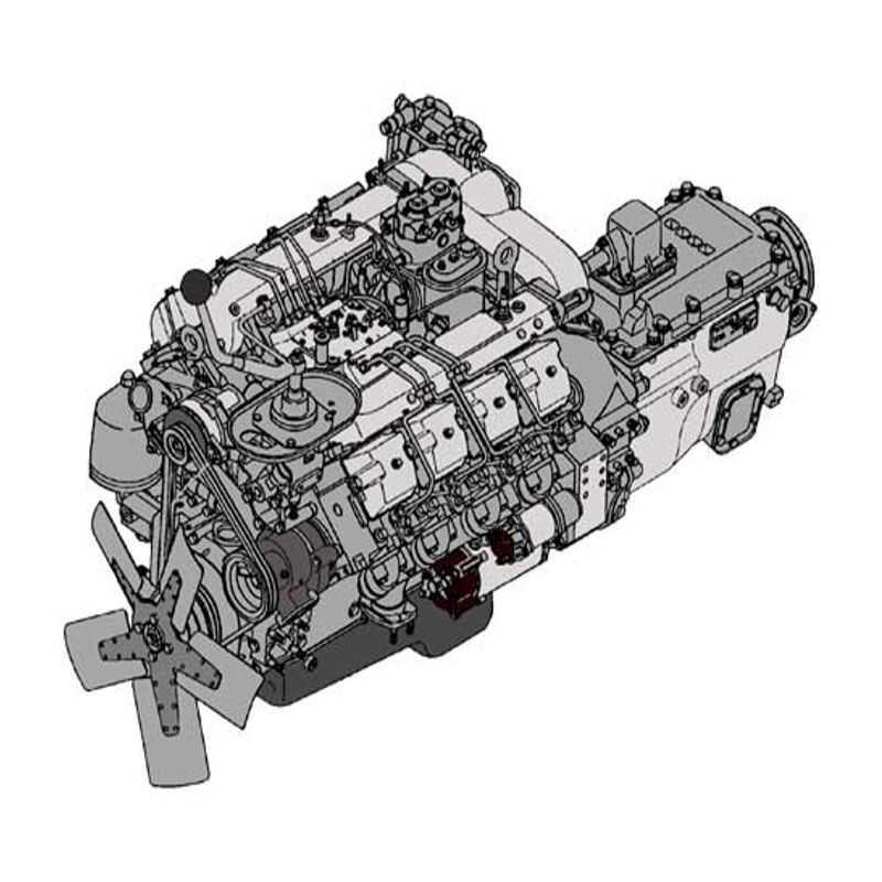 Силовой агрегат КАМАЗ 740.10-300 с 15 КПП